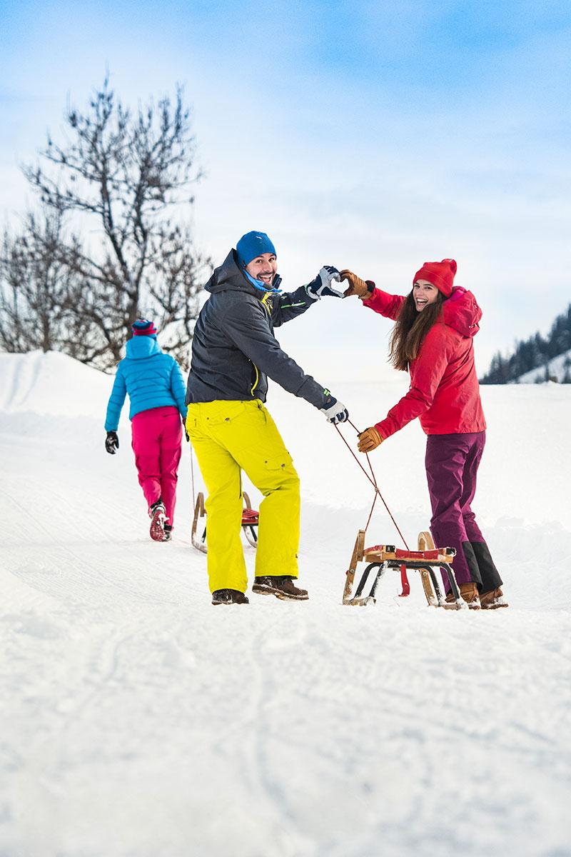 Rodeln, Winterurlaub in Flachau, Ski amadé