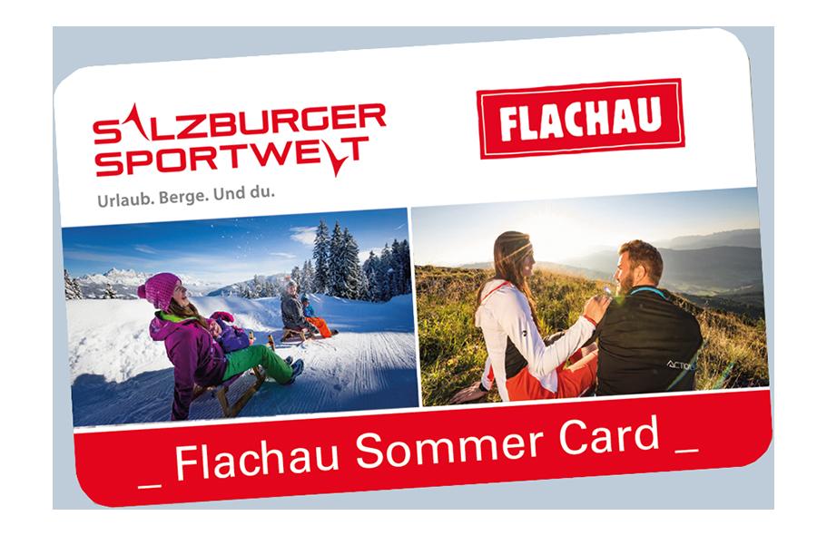 Flachau Sommercard 2020 in Kombination mit Salzburger Sportwelt Card