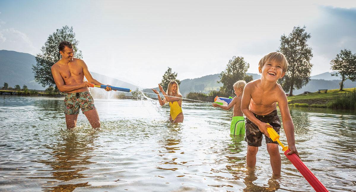 Schwimmen - Sommerurlaub am Reitecksee in Flachau